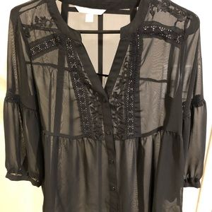 Lauren Conrad shear black blouse 🖤
